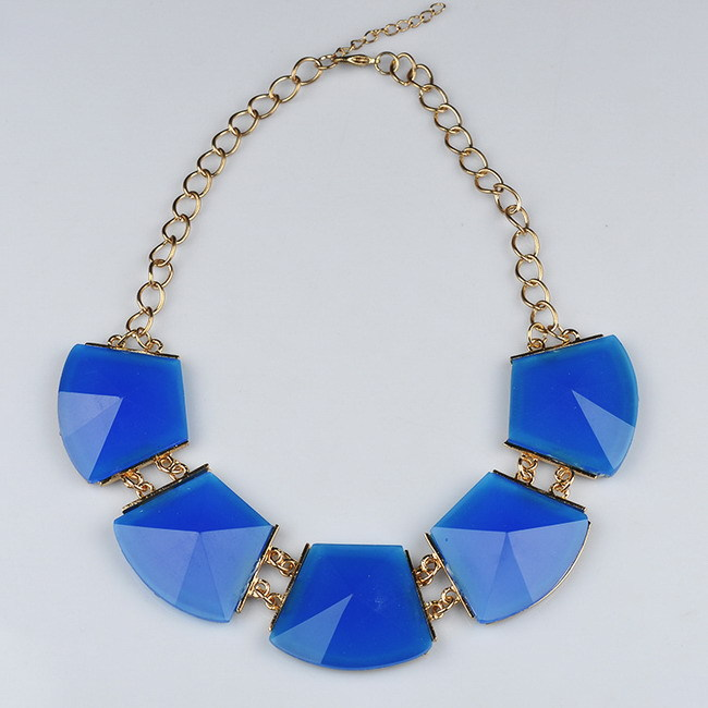 N00011 Korean-Style Bohemian Gem Necklace Large Variety Colors Choose Female - wuhuanhuan712 store