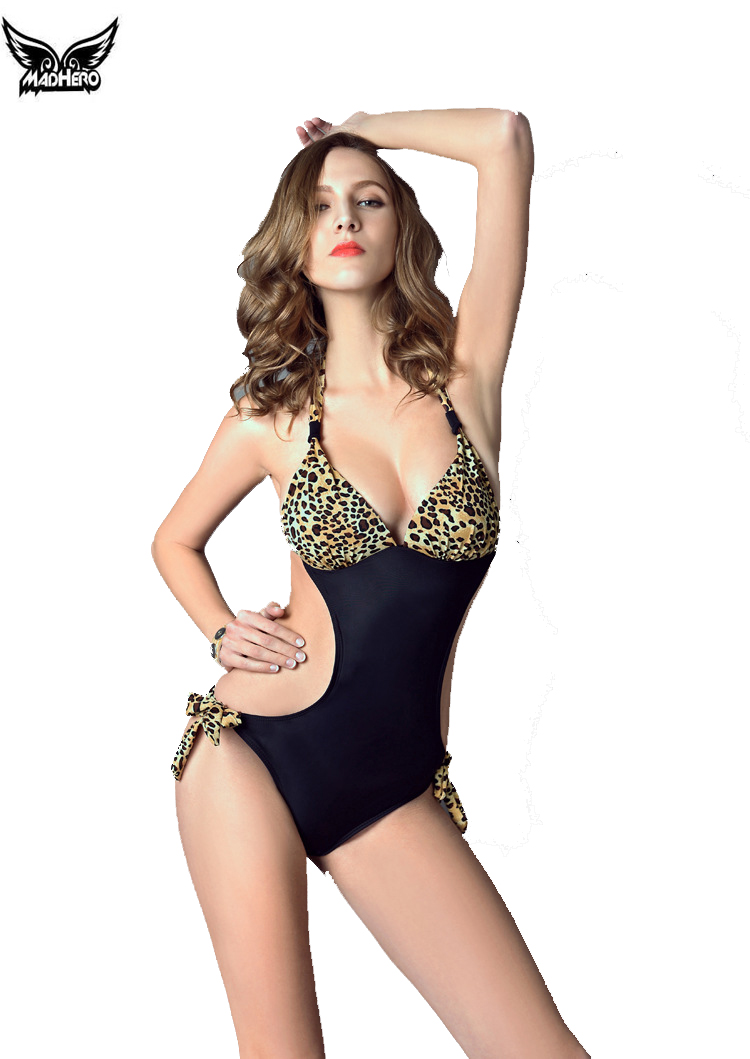 2016 font b swimming b font suit for women leopard push up one piece suits brazilian