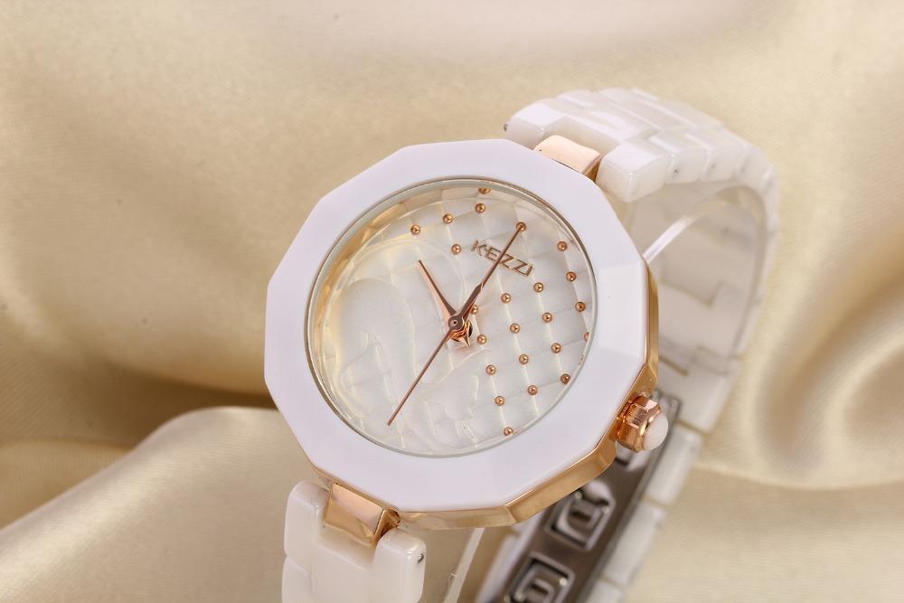 2015fashion casual KEZZI brand high quality ceramic rhinestone luxury women clock female elegant wrist ladies quartz watch K1115