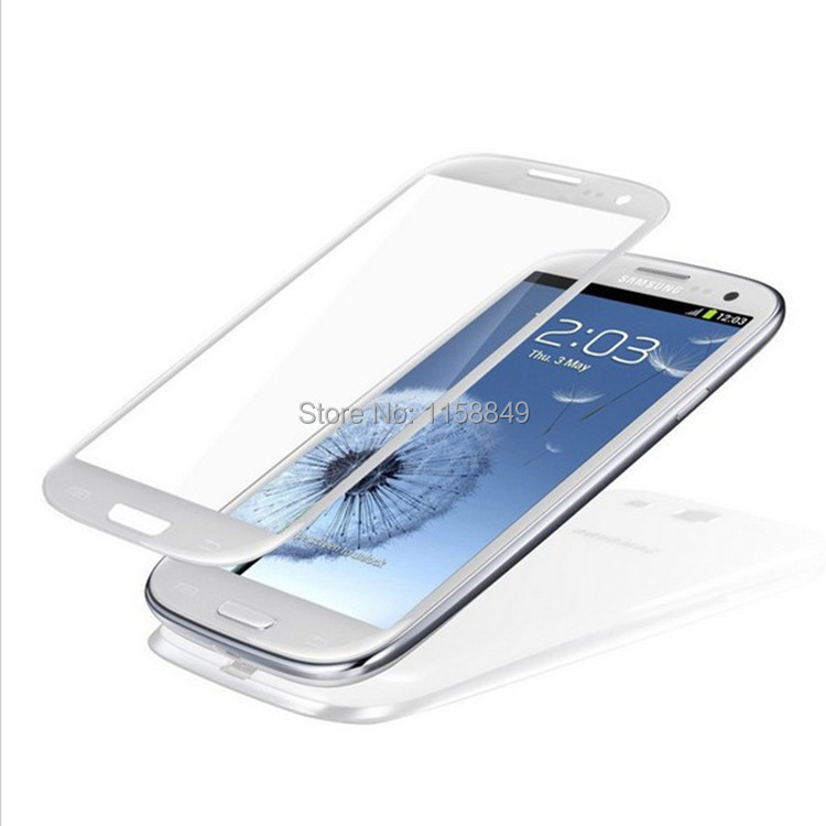 White Front Glass Lens Front Screen For Samsung Galaxy S3 i9300 Lcd Screen with LOGO for Samsung Replacement(China (Mainland))