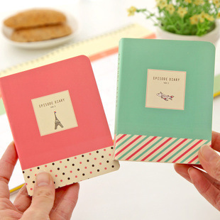South Korea stationery cute small fresh PDA notebook notebook page diary 2 pcs/set mixed color<br><br>Aliexpress
