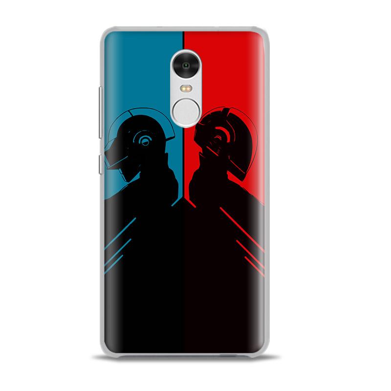 Cool Rock Band Daft Punk Originality Phone Case Shell Cover Bag For xiaomi Redmi note 2 3 4 4x pro mi4 mi5 mi5s mi6 minote