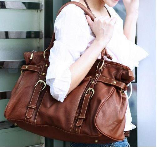 Hot Fashion Brand Luxury Women Casual Brown Leather Handbag Vintage Purse Elegant Ladies Travel Messenger Bags New Shoulder Bag - Carry Pet Supplies Store store