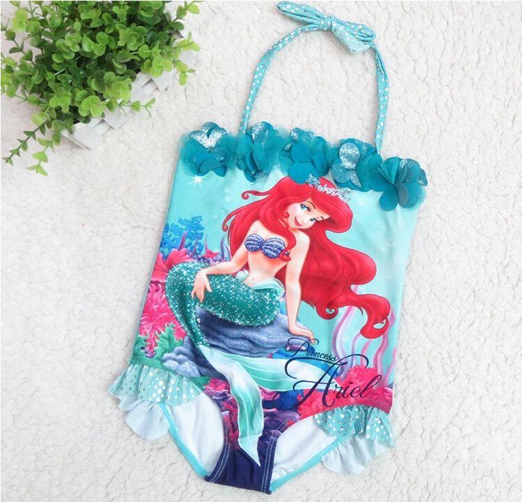 Little Mermaid Swimsuit Girls Swimwear One Piece Bathing Suits Kids Bikini Infantil 2015 retail