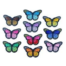 Hoomall 5 pcs ferro sobre patches para vestuário multicolor borboleta patch bordado apliques adesivos badge para roupas 4.2 cm x 7.4 cm(China (Mainland))