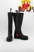 Custom made black and red Len and Rin Shoes boots from vocaloid Cosplay