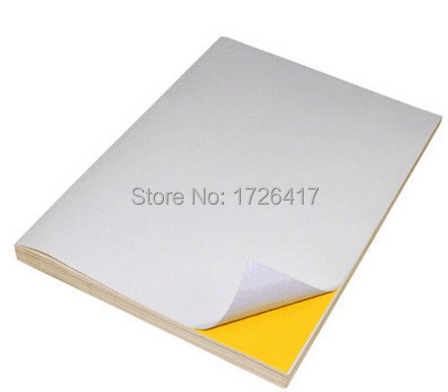 wholesale A4 blank white coated glossy self-adhesive label sticker A4 label paper can be printed by laser/inkjet printer(China (Mainland))