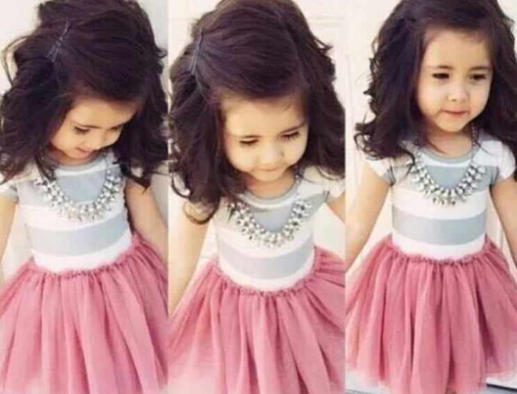 XQ-120 Free shipping 2015 new arrival 1 pcs girl's lady dresses pink and cute baby suits children costumes retail and wholesale(China (Mainland))