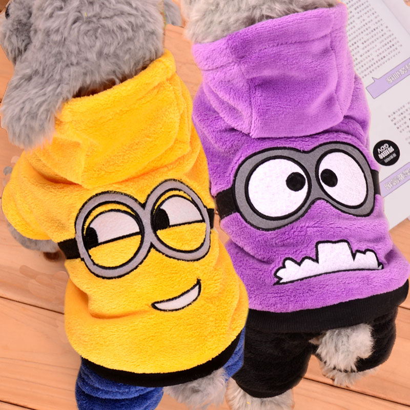 Winter Pet Dog Clothes Jumpsuit Dog Coat Jacket Clothing Puppy Minions Costume for Chihuahua YorkshireTeddy Cat Puppy Hoodie #2(China (Mainland))