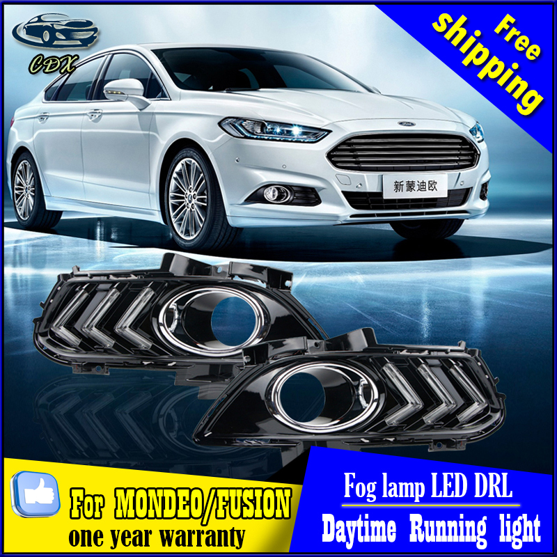For Ford Mondeo DRL cover fog lamp bright LED special Ford Mustang modified Daytime Running Lights Car styling for Ford Fusion(China (Mainland))