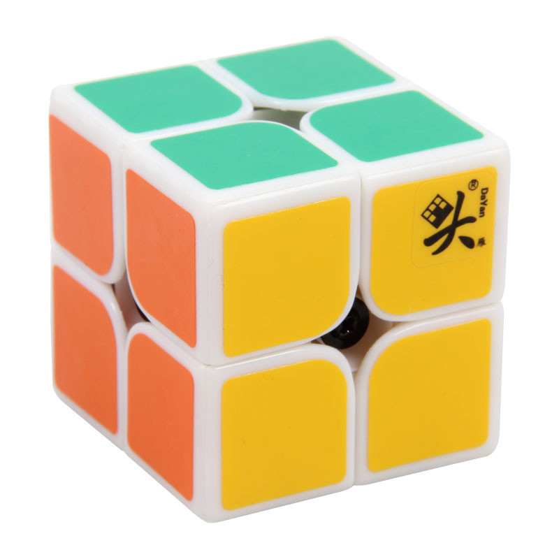 Hot 2014 Brand New 46mm 2x2 Stickerless DaYan First Generation Speed Magic Cube Puzzle cubo magico Educational Special Toys(China (Mainland))