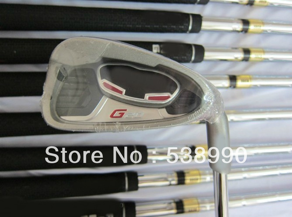 G20 Golf Irons With Dynamic Gold R300 Steel Shafts LH Golf Clubs #3456789WS(China (Mainland))