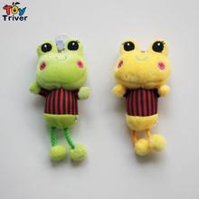 Wholesale 100pcs plush frog doll mobile phone Automobile keychain pendant Accessories stuffed toys For handbag Bag Purse gift