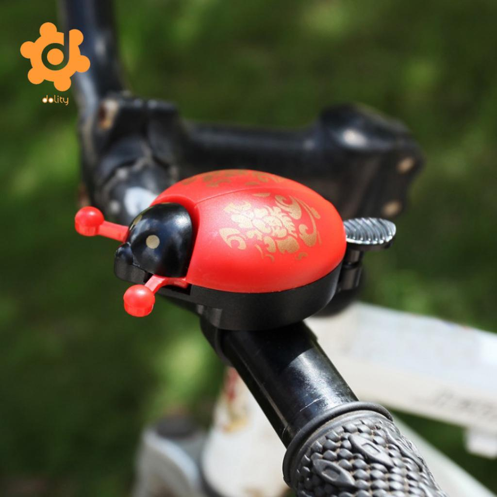 Lovely Funny Kids Children Beetle Ladybug Ring Bicycle Bell for Boys Girls Cycling Bike Ride Alarm Mountain Bike Trumpet Horn