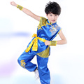 Hot Sale Embroidery Dragon Children Performance Clothing Chinese Traditional Style Kung fu Clothing Suits Martial Arts