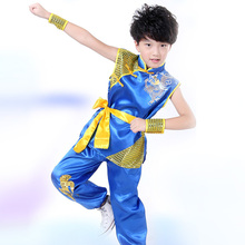 Buy Embroidery Dragon Children Performance Clothing Boys Chinese Costume Kung Fu Clothing Dragon Suit Martial Arts Costume Kids for $9.70 in AliExpress store