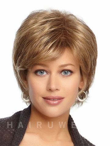 Cheap Synthetic wigs Free shipping Short Curly hair wig cap with bangs for women Hot sale(China (Mainland))