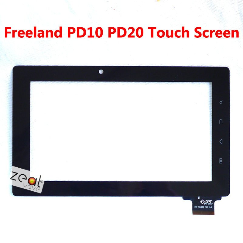"""7"""" Capacitive Touch Screen Panel Replacement for Freeland Tablet PC PD10 PD20 18mm Width Connector(China (Mainland))"""