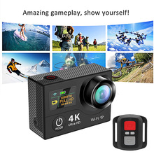 Buy 2.4G Wifi 4K Ultra HD Dual Screen 30m Waterproof 170-degree Wide Angle Fish-Eye Lens Sport DV Action Camera with Remote Control for $67.07 in AliExpress store
