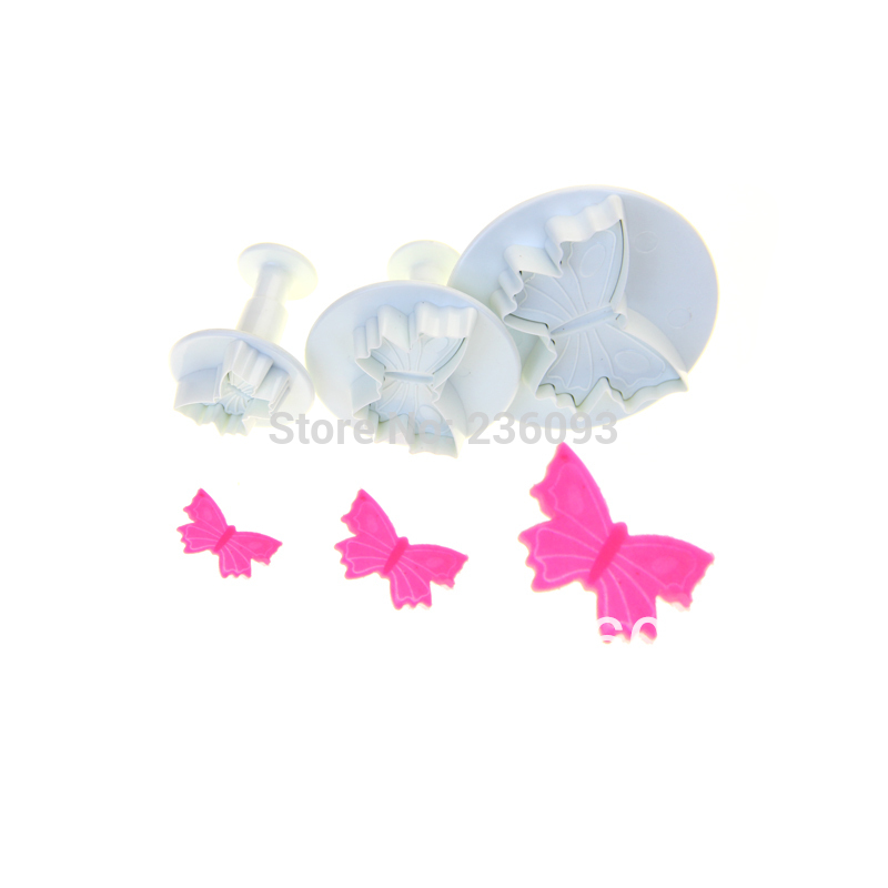 NEW 3PCS BUTTERFLY CAKE DECORATION TOOLS SMALL SIZE#2014(China (Mainland))