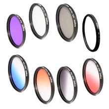KnightX 52mm 58MM 67MM 77MM Grad blue Red color FILTER UV CPL FLD LENS for Nikon