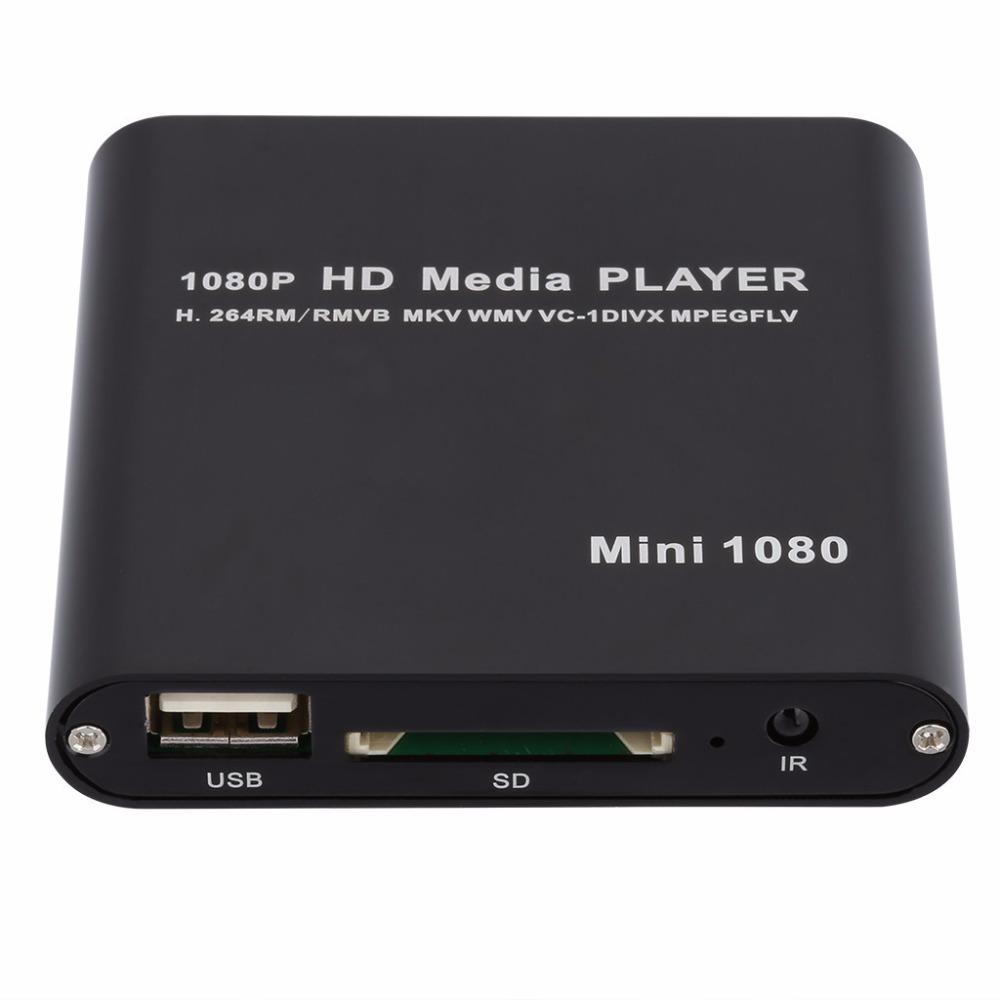 Mini 1080P Full HD H.264 Multi Media Player MP3 AVI RMVB MPEG Player supports Ypbpr output external HDD or U disk SD card(China (Mainland))