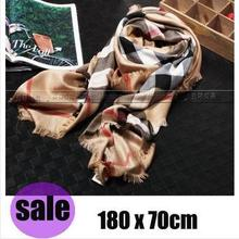 2015 New!  Spring  New Style Classic Big Plaid Cashmere High Quality Scarf  Women Soft  Shawl 180*70CM And 140*140CM (B03)(China (Mainland))