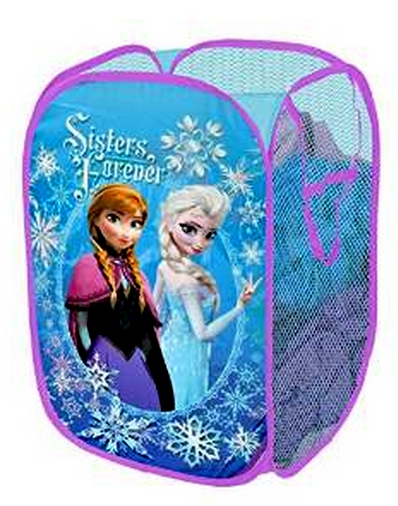 Snow Queen Sisters Forever Pop Up Hampers Children Kids Mesh Folding Elsa and Anna Clothes Storage Container Box for Toys(China (Mainland))