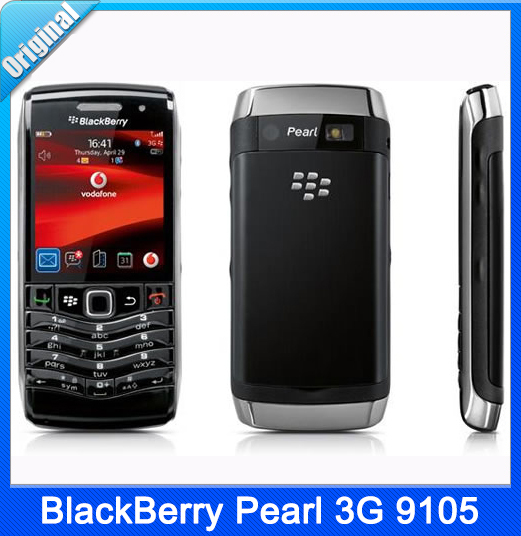 9105 Unlocked Original Blackberry Pearl 9105 Mobile Cell Phone 3G WIFI GPS 1 year warranty(China (Mainland))