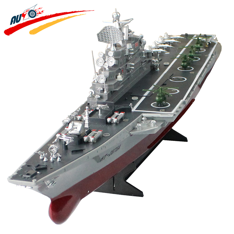 RC Boat 1:275 4CH Remote Control Challenger Warship Aircraft Carrier High-speed Large Electronic Model HT-2878A For Kids Toys(China (Mainland))