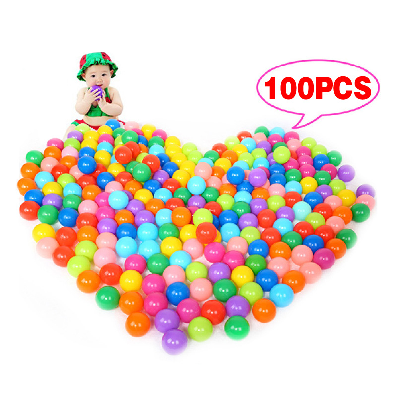 100pcs Colorful Ball Soft Plastic Ocean Ball Funny Baby Kid Swim Pit Toy Water Pool Ocean Wave Ball for Children(China (Mainland))