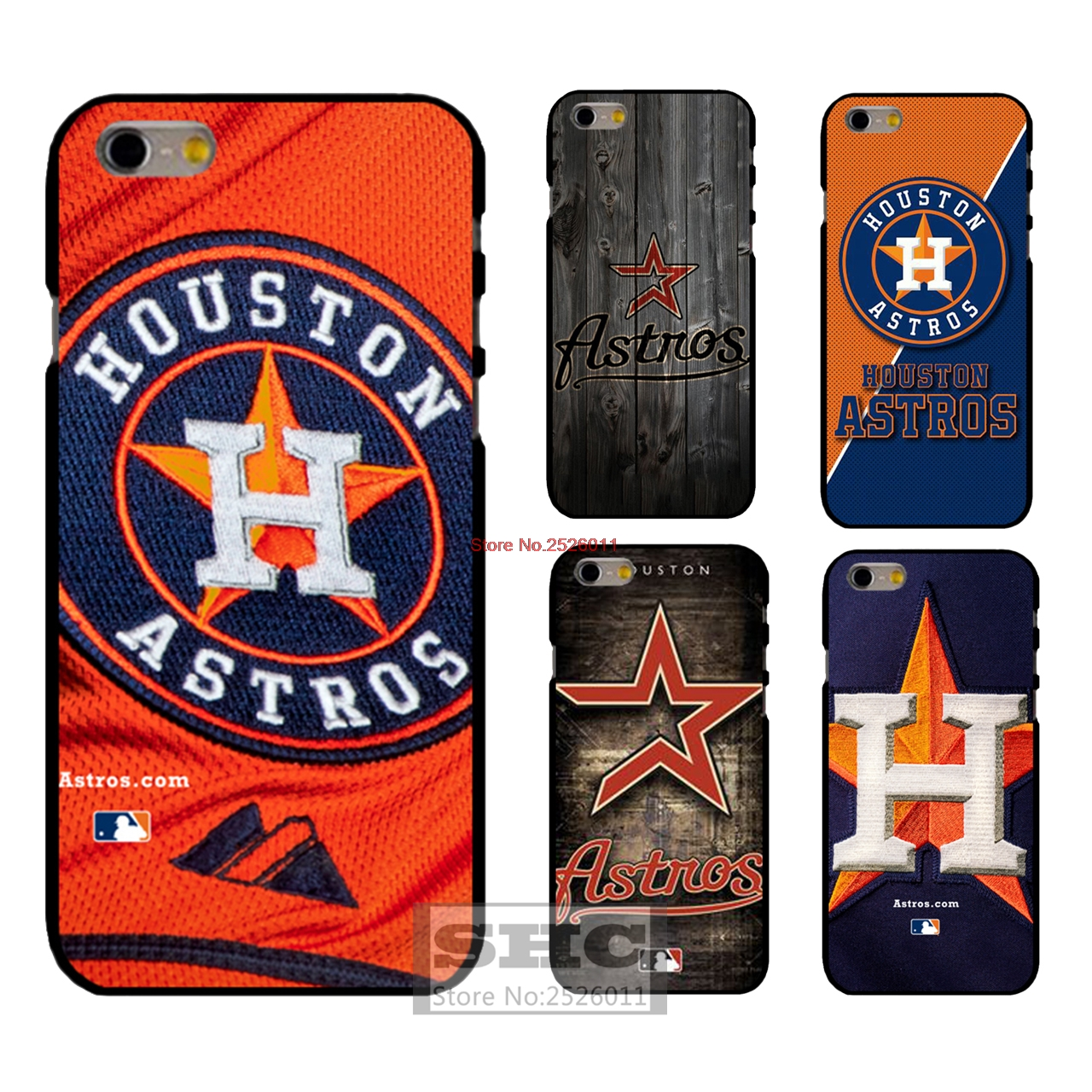 Houston Astros MLB Hard plastic Cover Case for iphone 4s 5s SE 5c 6 6s plus 7 samsung S3/4/5/6/7 mini Note3 4 A3 A5 Touch 5(China (Mainland))