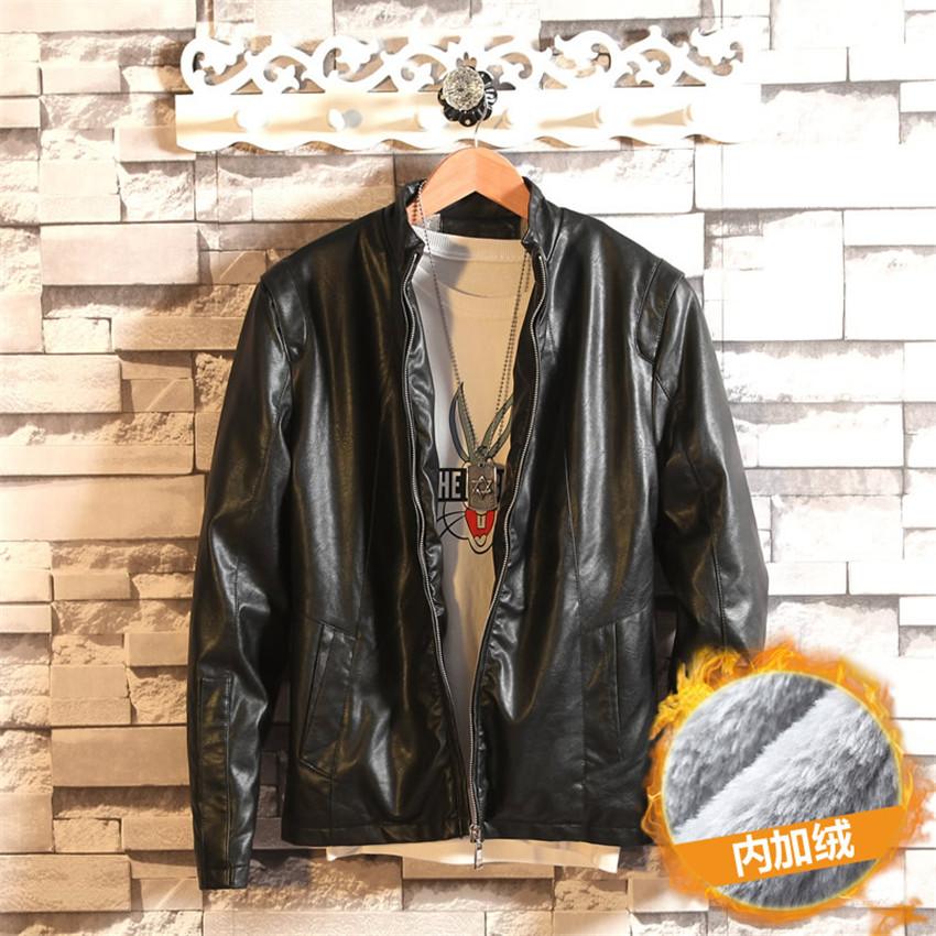 2015 Leather Jacket Men Fashion Brand High Quality Velvet Warm Winter Motorcycle Business Casual Men Leather Jacket CoatОдежда и ак�е��уары<br><br><br>Aliexpress