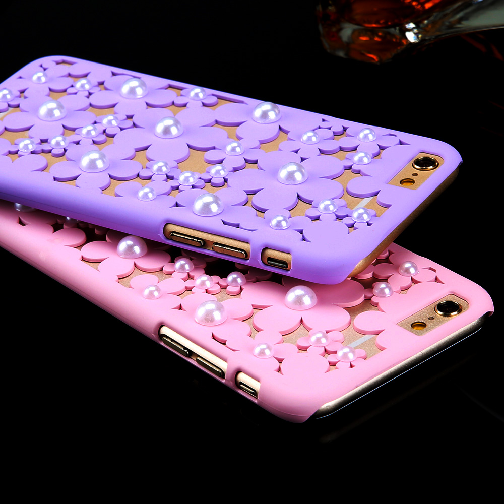 Newest Fashional Candy Colors Solid Petal Hollow Cell phone cases for iphone 5 5S 5G with Top Quality hard carry back cover(China (Mainland))