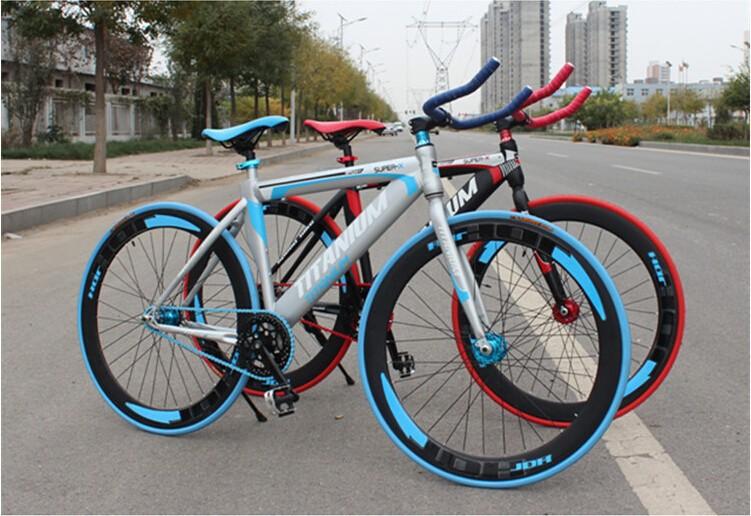 2015 New Arrival Men's Women's Fixed Gear Bikes Fashion Aesthetic Bicycle Bicicleta Sport Road Bike(China (Mainland))
