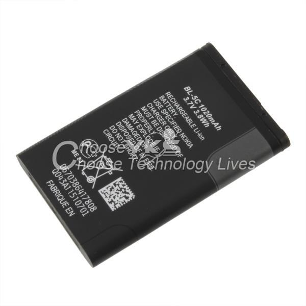 Replacement Cell Phone Battery 1020mAh 3 7V 3 8 wh for Nokia 1100 1108 1110 BL