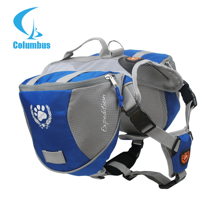 Outdoor Adjustable Pet Dog Bag Large Saddle Capacity Backpack PU Air Mesh Meterial Carriers & Bags
