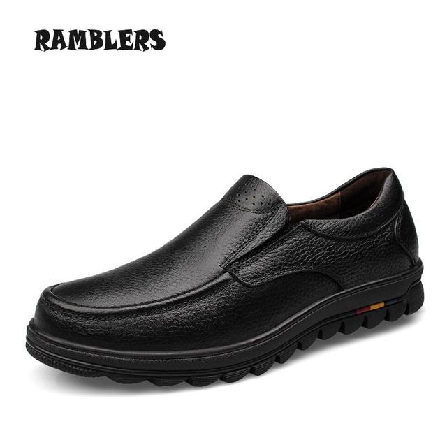 Большой размер 48 мужчин оксфорд из натуральной кожи черного туфли-моды деловой человек ...