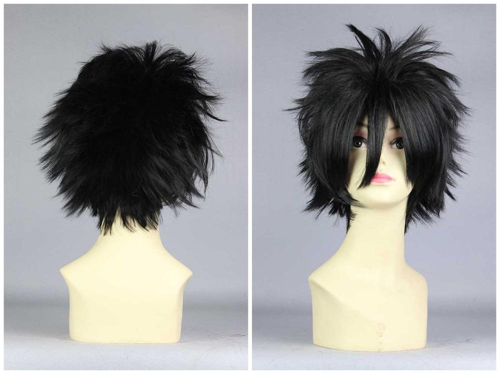 Hijikata Toshizo/fairy tail Gray Fullbuster 30cm Classical Men Fashion Short Black Cheap Wig Cosplay<br><br>Aliexpress