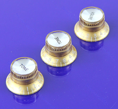 "M112""Volume Tone Control Knob Top Hat Speed Control Knobs For Fender Strat Guitar Gold(China (Mainland))"