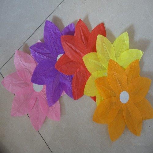 Free shipping 30pcs/lot 2014 NEW Chinese Paper Lotus Flower Floating Lanterns Birthday Wedding Party(China (Mainland))