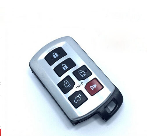 6 Buttons Replacement Smart Card Remote Key Case Shell For Toyota Sienna Keyless Entry Fob Key Cover<br><br>Aliexpress
