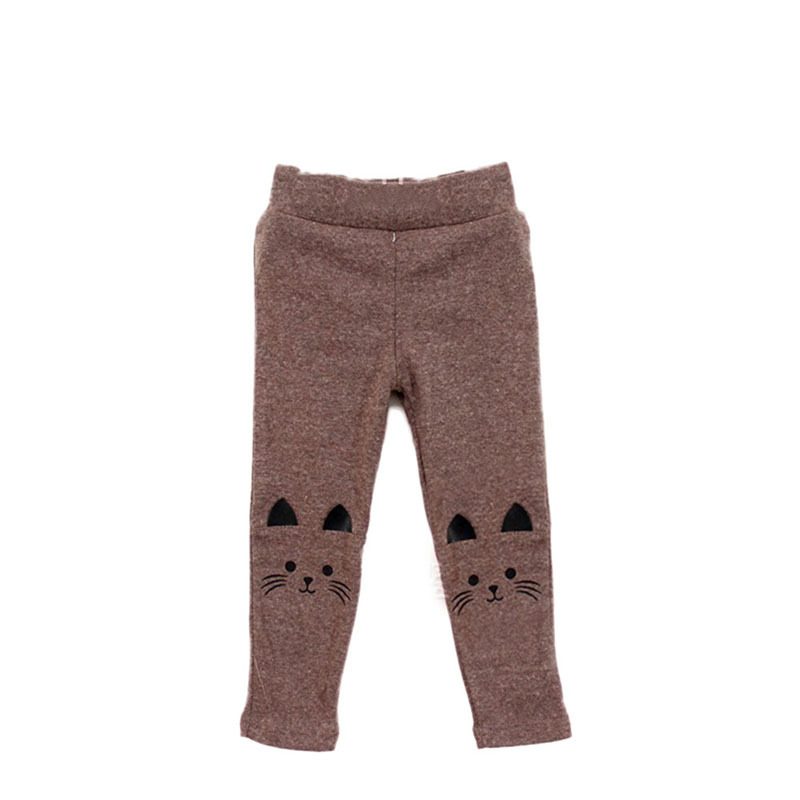 Гаджет  Stylish Cute Cat Print Kids Girl Baby Tight Pants Toddler Stretch Warm Trousers None Детские товары