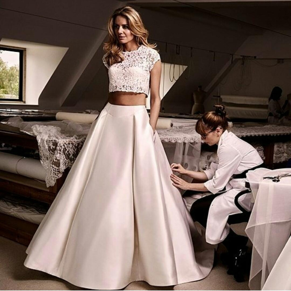 Two Piece Formal Dresses Plus Size Homecoming Prom Dresses