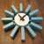 12 inch blue color George Nelson solid wood block wall clock