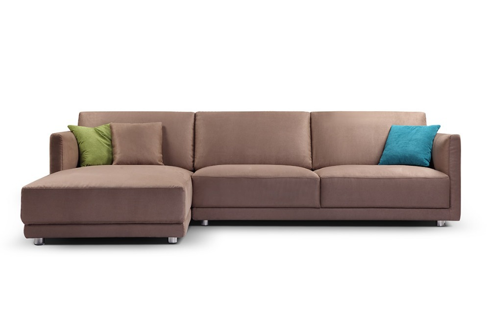 Promotion Modern furniture / living room unfolding sectional sofa with stainsteel legs MCNO0637(China (Mainland))