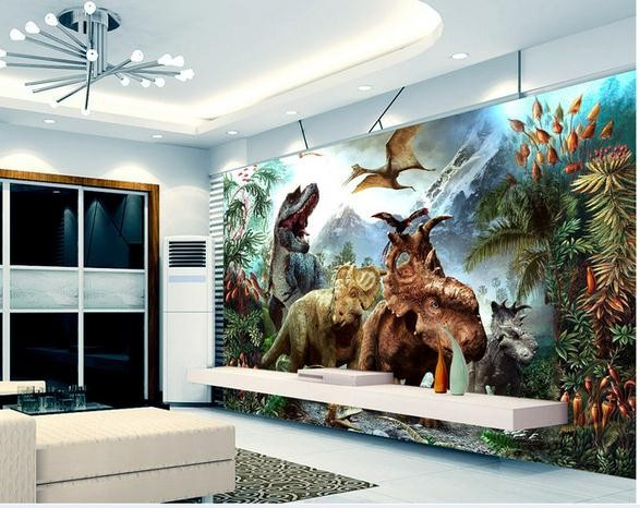 Dinosaurio murales de pared compra lotes baratos de for Murales de pared baratos