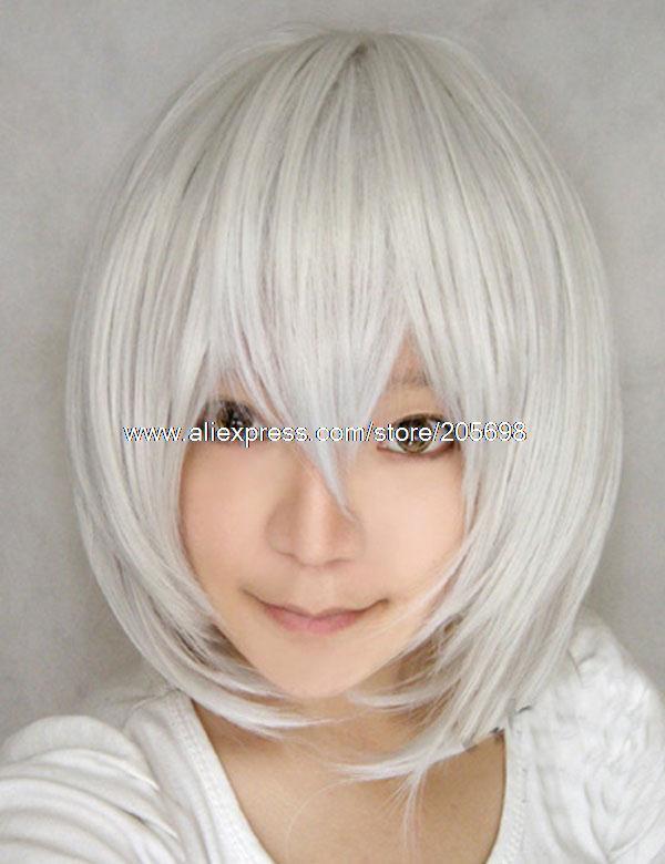 Гаджет  Silver Short Cosplay wig anime halloween christmas Free Shipping None Изготовление под заказ