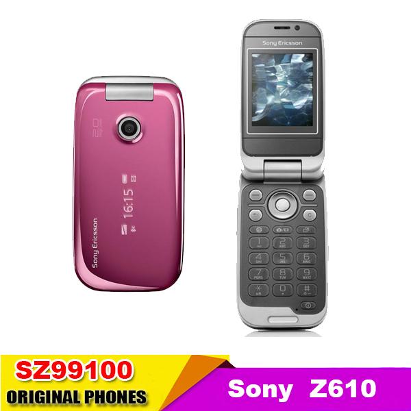 Z610 original Sony Ericsson Z610i 3G Bluetooth Jave Mobile Phone mp3 player Color flip phone Good quality refurbished(China (Mainland))