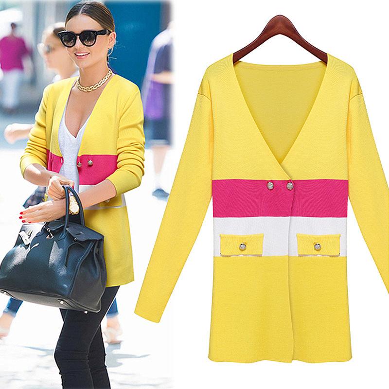 2016 New Fashion Spring Autumn Women Cardigan Sweater V-Neck Long-Sleeved Knitwear Women Sweaters Long Cardigan Women(China (Mainland))